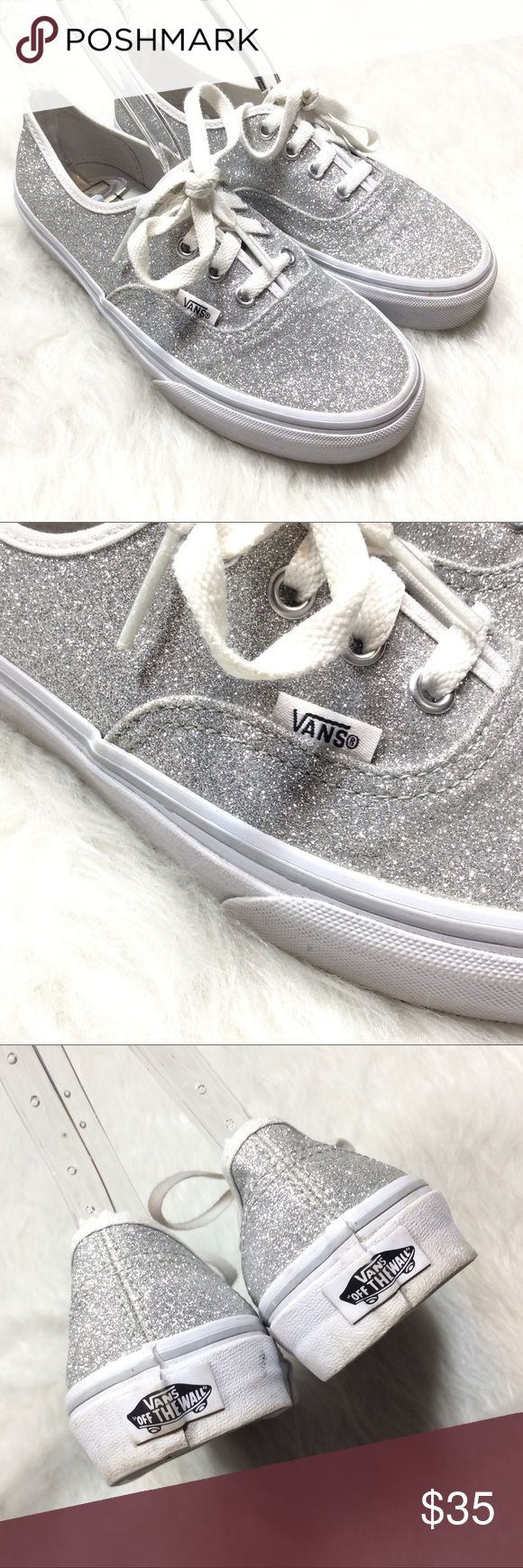 Silver glitter sparkly VANS lo pro lace up shoes Worn only a couple times! In excellent condition. Light wear to soles. Great for prom or weddings, or for anytime you need to spice up your life! Women's size 6.5. I ship same or next day. Thank you for looking at my listing! Vans Shoes Sneakers