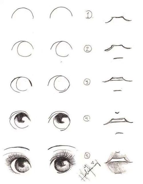 how to draw cute eyes 30 different