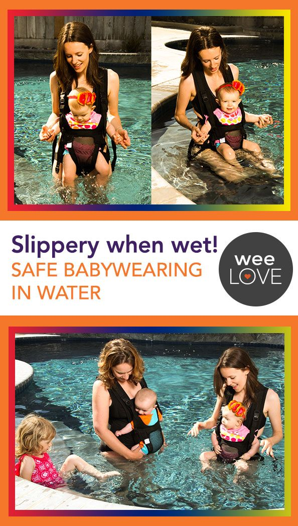 Baby carrier made for the water. Safe summer fun.