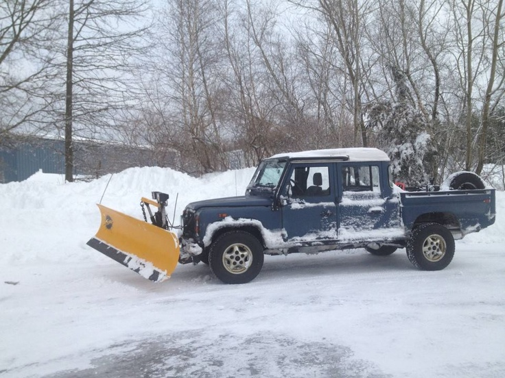 Snow Plow Land Rover