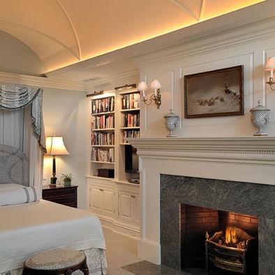 Built ins lighting crown molding with light pinterest lights moldings and bookcase wall Rope lighting master bedroom