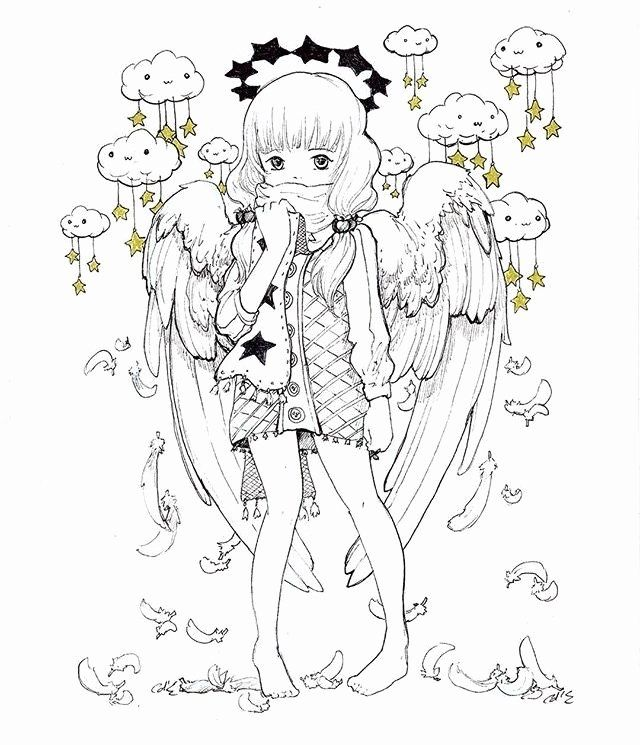 Pop Manga Coloring Book New Camilla D Errico Art Pop Manga In 2019 In 2020 Manga Coloring Book Enchanted Forest Coloring Book Elephant Coloring Page