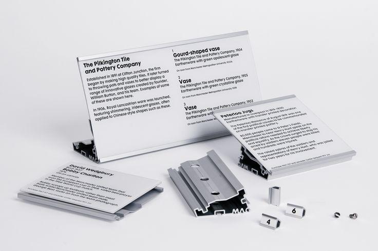 exhibit labels components