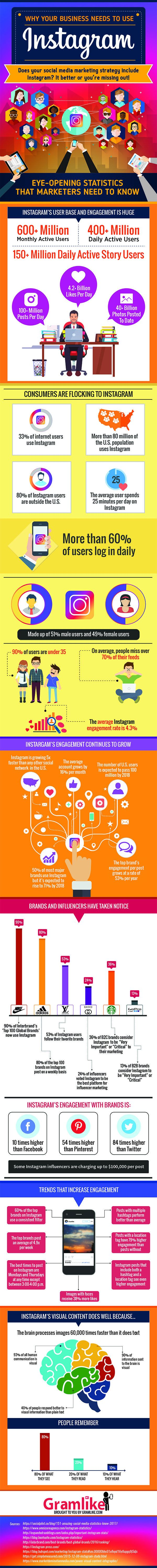 Why Businesses Should Use Instagram for Marketing   Social Media Infographic