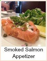 This smoked salmon appetizer is simple to make. It would be good as a first course for a dinner party or as part of a buffet or drinks party. The mustard sauce is a delightful mixture of hot, sweet and fresh. You could use it as a dip for lots of other occasions. The preparation can be done in advance, just leaving the bread to toast and the appetizer to assemble before serving Get as much as you want, but the minimum is a slice per bread.