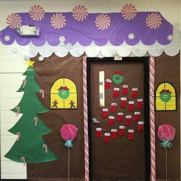 School Office Decor Christmas Gingerbread House Door: Top 25 Ideas About Decoracion Puertas On Pinterest
