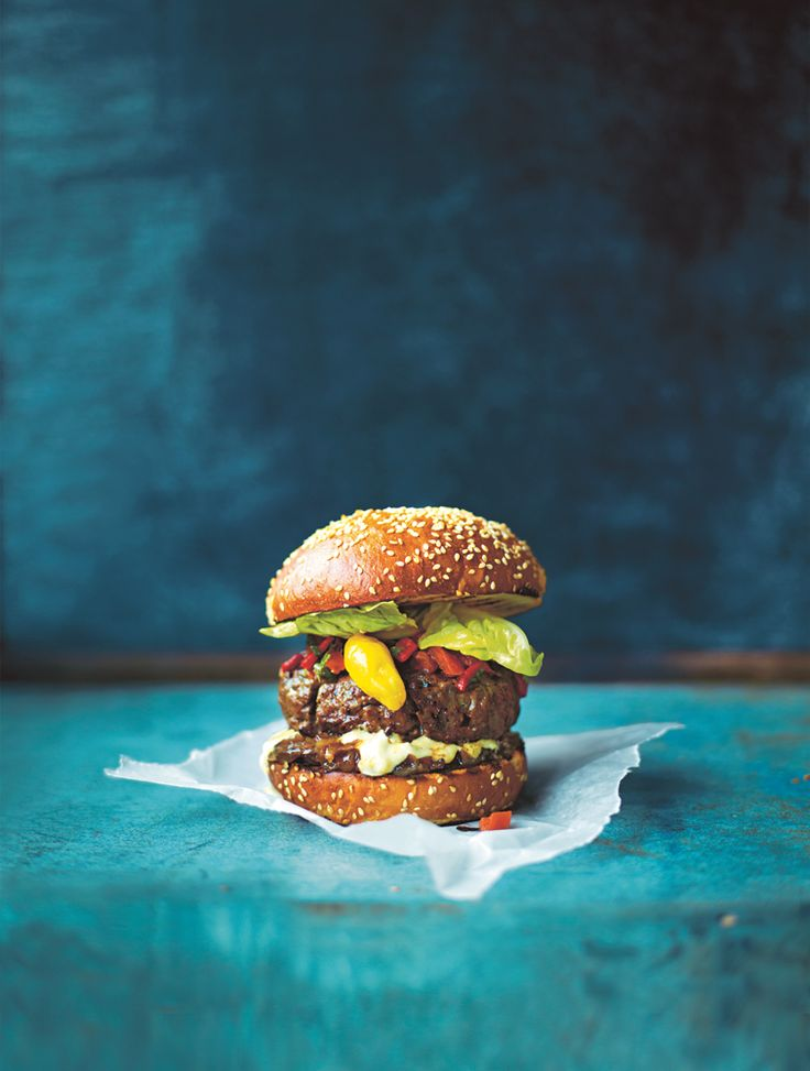 Jamie's better #burger with special #Yoghurt sauce