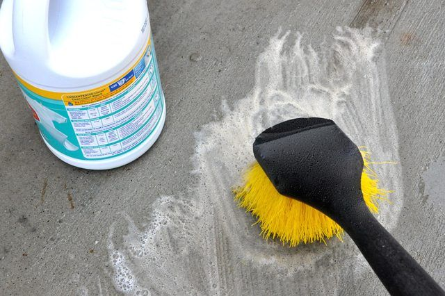 How to clean a concrete patio stained concrete soaps for Indoor concrete cleaner