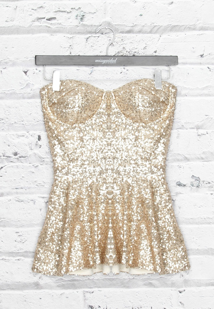 Sequin Peplum TopNewyears, Fashion, Peplum Tops, Style, Closets, Gold Sequins, Bustiers, New Years Eve, Sequins Peplum