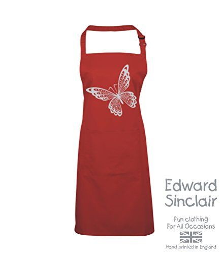 BUTTERFLY DESIGN' Red Apron with Silver Sparkling Glitter print Edward Sinclair http://www.amazon.co.uk/dp/B00UAY5F4W/ref=cm_sw_r_pi_dp_LVSgvb1H15763