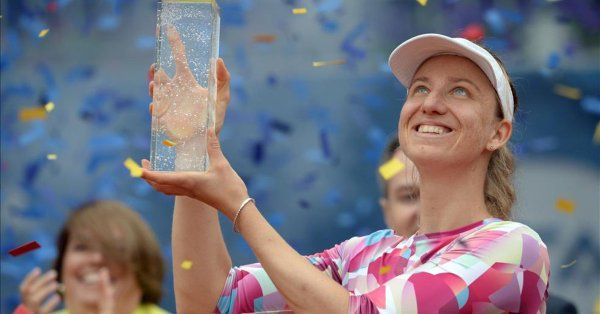 5/6/17 WTA Prague | Mona Barthel rallied and won a 4th WTA title after 3 years of waiting, defeating Kristyna Pliskova  2-6, 7-5, 6-2 in the finals. via sport.es