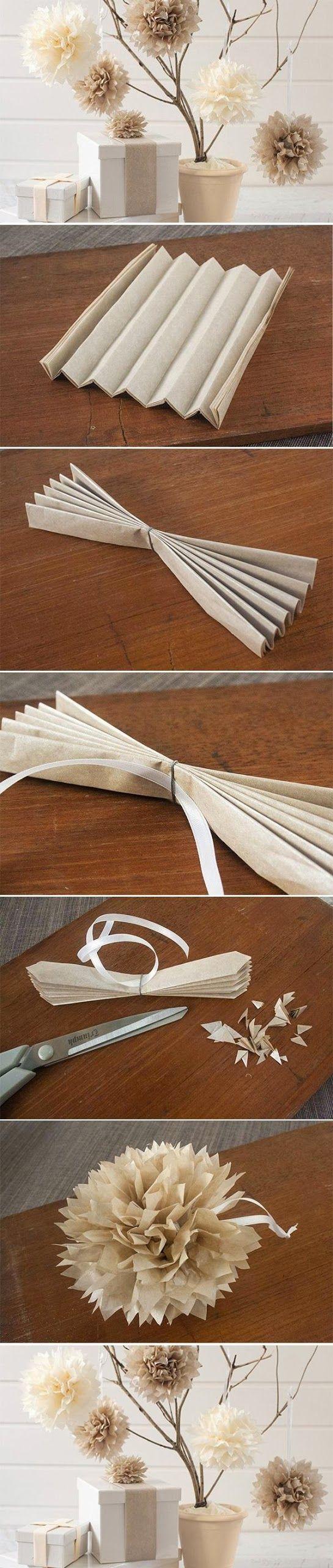 Pompon en papier