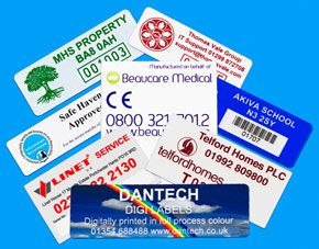 Digital Asset Labels - Digitally printed in full high resolution colour, with process and Pantone® match allows you to reproduce company logos and corporate colours in a clear and crisp manner.