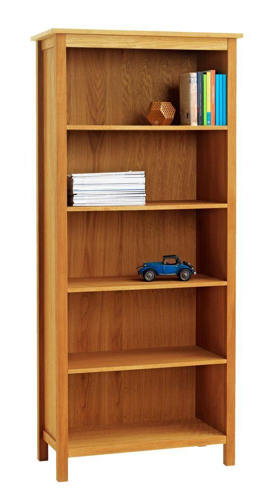 Bookcase SILKEBORG 5 shelves oak | JYSK