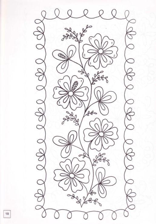 Diseños bordado flores
