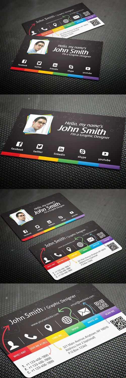 Creative Business Card for Graphic Designers #businesscards #businesscardsdesign #corporatebusinesscards