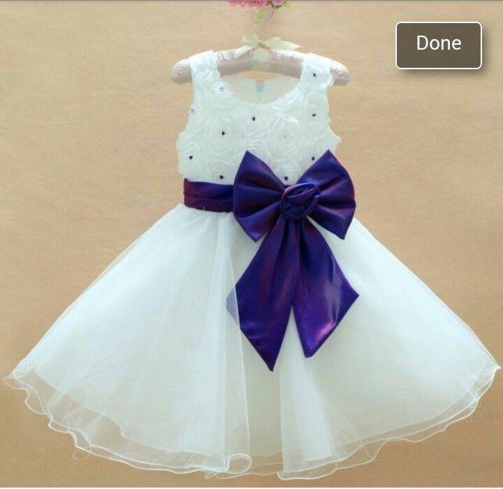7a736831e74 Cadbury purple flower girl dress