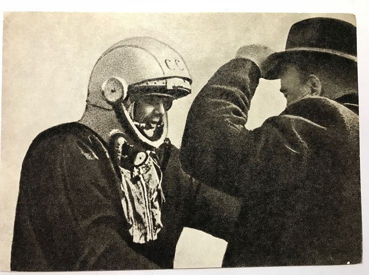 Postcard of Yuri Gagarin and Sergei Korolev