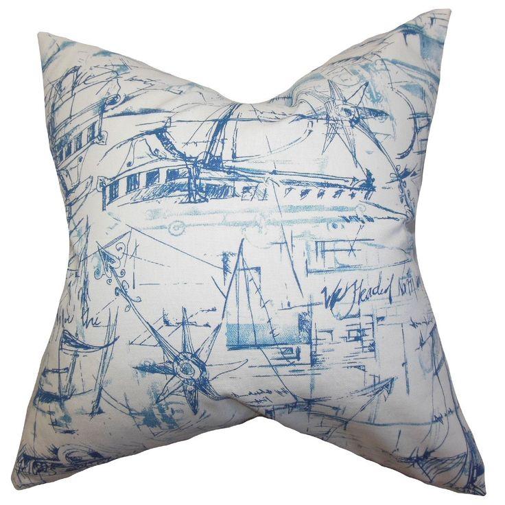Hobson Coastal 24-inch Down Feather Throw Pillow
