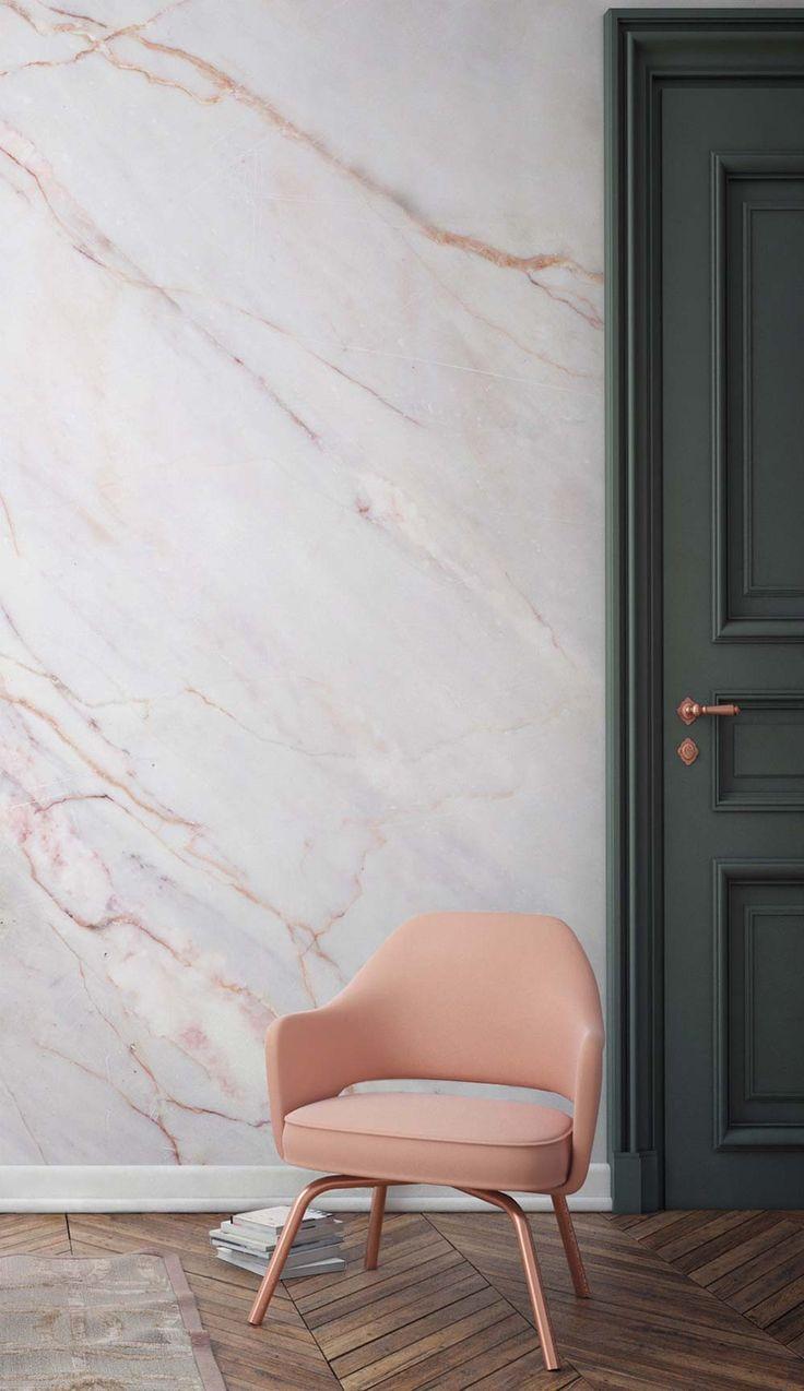 Pink marble wallpaper murals
