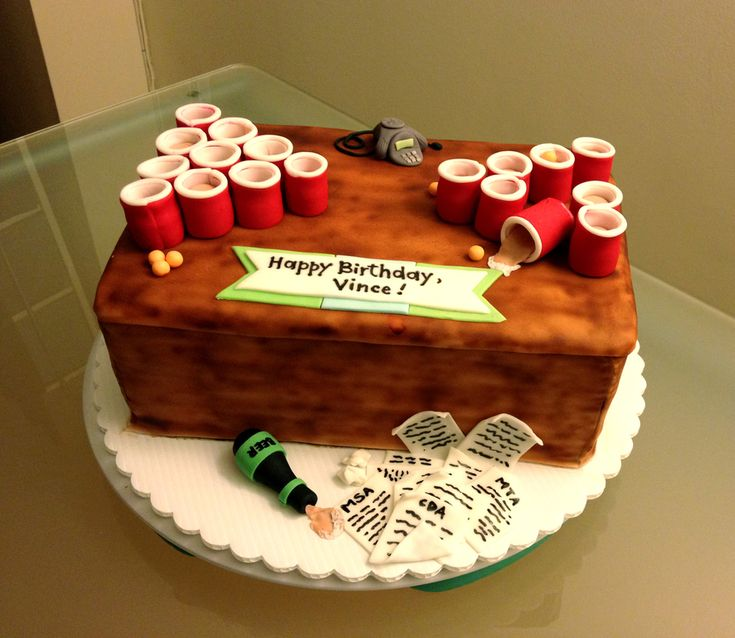 Beer Pong Birthday Cake On Central