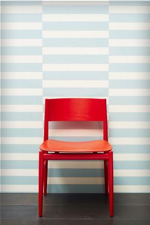 Greg Natale's striped wallpaper is finally in store!