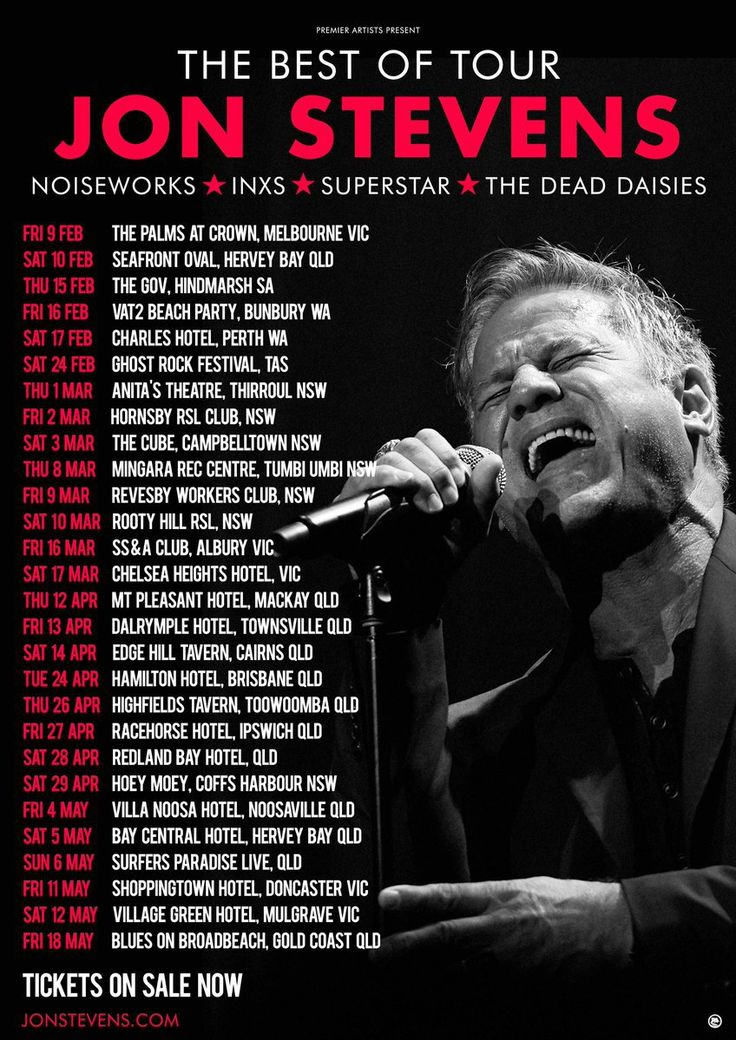 Jon Stevens is hitting the road for a Best Of tour, traversing all the hits of his career, from his solo work, right through to Noiseworks, INXS, The Dead Daisies and even Jesus Christ Superstar. W…