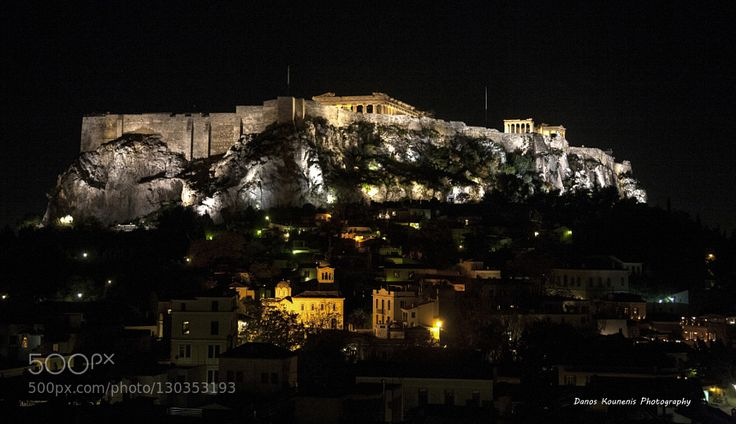 "Acropolis by night Acropolis of Athens  The Acropolis of Athens is an ancient citadel located on a high rocky outcrop above the city of Athens and contains the remains of several ancient buildings of great architectural and historic significance the most famous being the Parthenon. The word acropolis comes from the Greek words ἄκρον (akron ""edge extremity"") and πόλις (polis ""city"").Although there are many other acropoleis in Greece the significance of the Acropolis of Athens is such that it…"