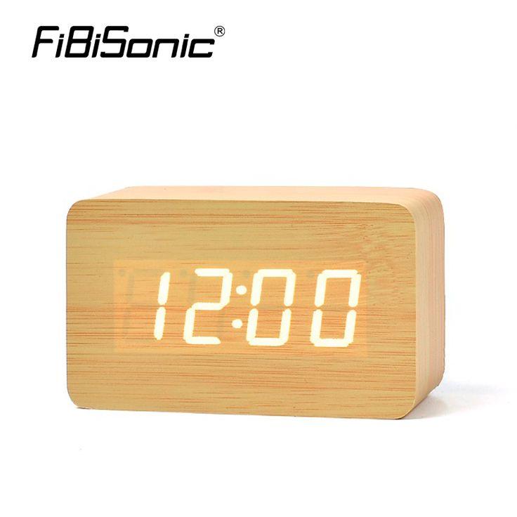 US $11.70 FiBiSonic Holz Digital LED Wecker Zeit Despertador Sound Control USB/AAA Elektronische Schreibtisch Tischuhren #FiBiSonic #Holz #Digital #Wecker #Zeit #Despertador #Sound #Control #Elektronische #Schreibtisch #Tischuhren