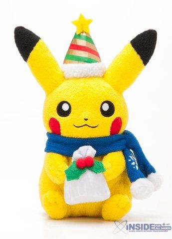 Pokemon #Game Christmas Goods. Available at Pokemon Centers in #Japan this year. There's even more of this stuff, that you can see at Inside-Games.
