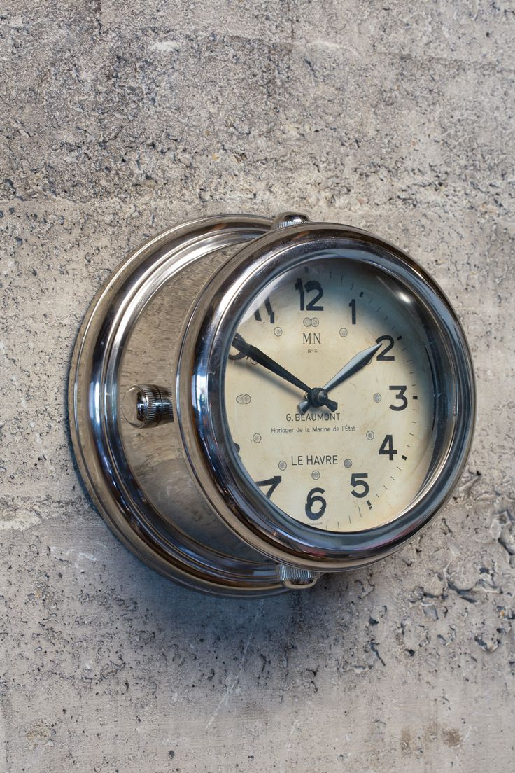 35 best clocks images on pinterest clocks airplanes and aviation reproduction of the military clocks found on french wwii submarines our deckhand wall clock features amipublicfo Images