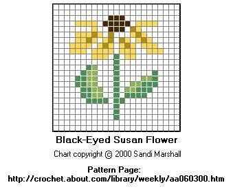 Daisy small cross stitch pattern