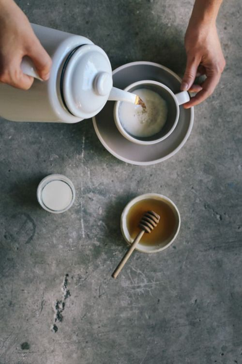 honey tea / morning and food styling
