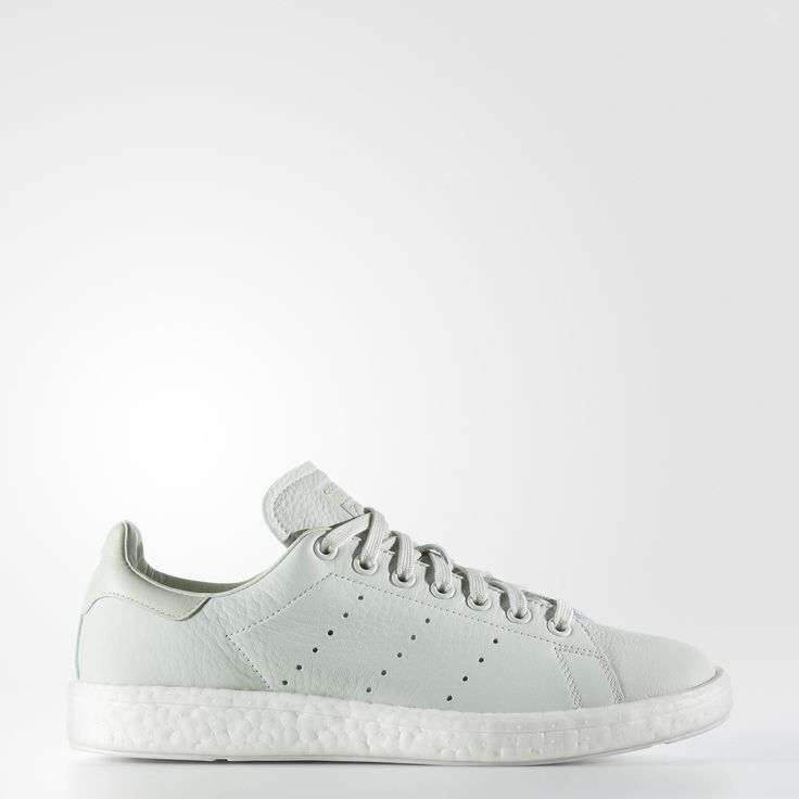 An adidas royal, the Stan Smith sneaker gets a modern tech upgrade with  energy-returning boost™. These shoes are made with a premium leather upper  in ...