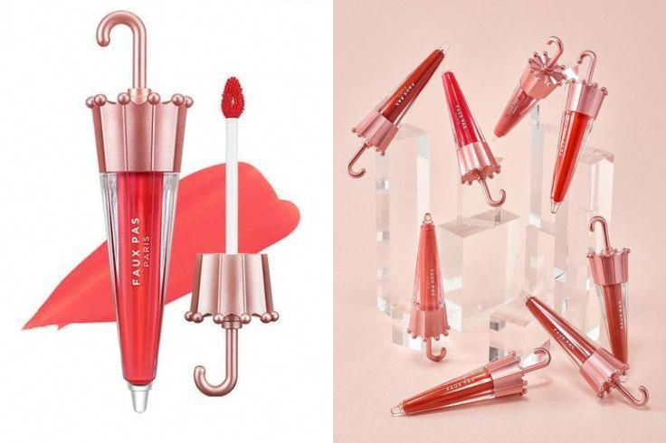 Faux Pas Paris Velvet Umbrella Tint 8 Colors Koreanbeauty Koreanmakeup Lipstick Diylipscrub Lipstick Designs Unique Lipstick Lipstick