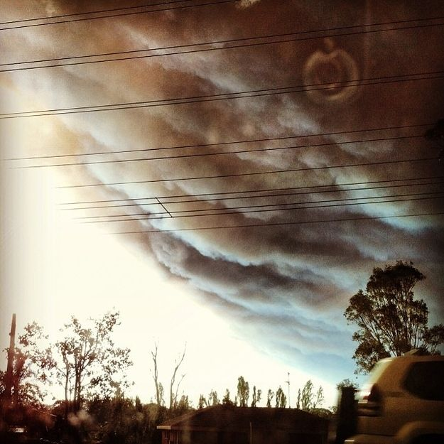 Seriously ominous.   50 Surreal Images From Sydney's Bushfire Crisis