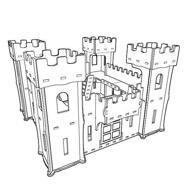 Great wooden (plywood) castle cut plans. Vector model for CNC router and laser cutting. Toys for boys. Knight castle, play castle, princess castle. Castle dollhouse.       Material plywood 4mm/5mm/6mm. Plywood 4mm (Laser cut) Plywood 5mm (Router cut, Laser cut) Plywood 6mm (Router cut, Laser cut) Length - 61cm / 24,4in Width - 57cm / 22,5in Height - 42,5cm / 16,8in Max element size - 29cm (11,5in) / 37cm (14,6in)   All right reserved. You can make physical items...