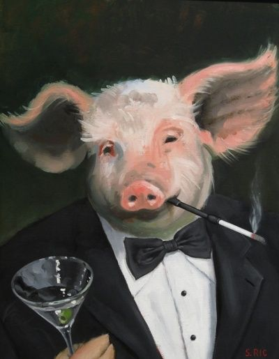 Sophisticated pig