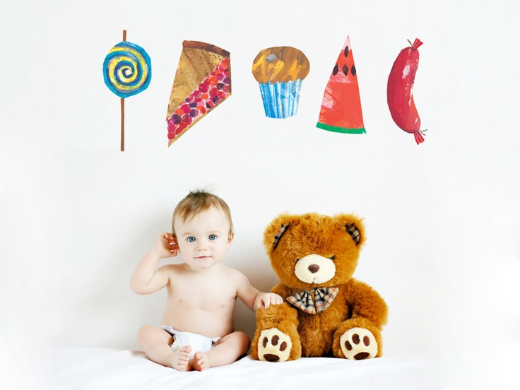 The Very Hungry Caterpillar Different Food Peel And Stick REUSEABLE Wall  Sticker Wall Decal Wall Mural Part 56