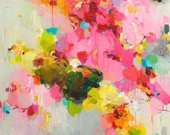 Abstract Painting abstract art print Oil Painting Fine by siiso