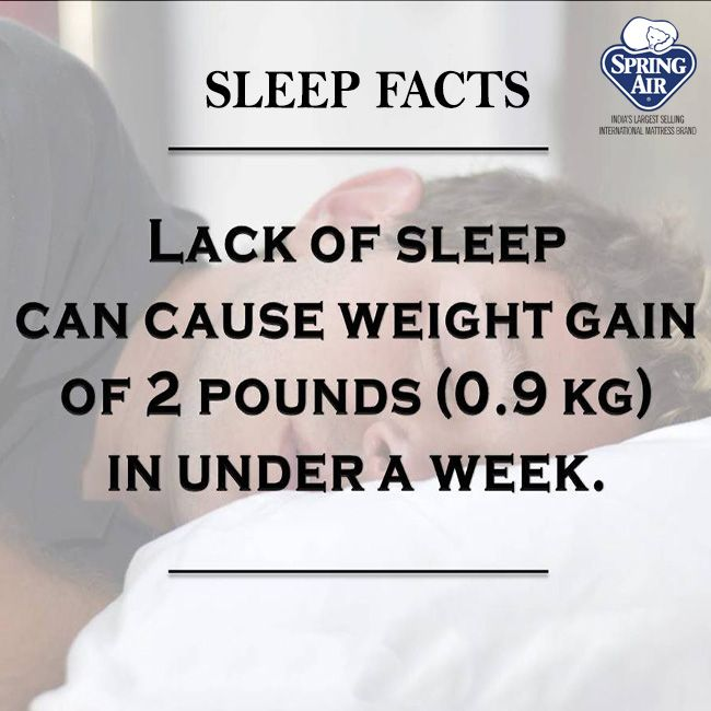 Avoid weight gain by enjoying stress free sleep on a Spring Air mattress. #sleepfacts #SpringAirHappiness