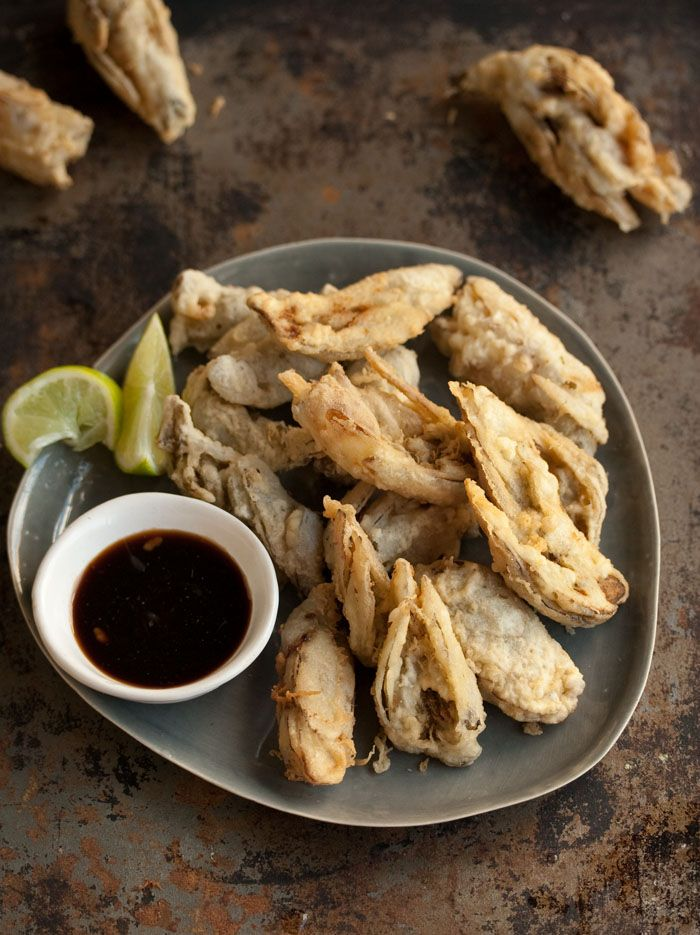 waterblommetjie tempura.....could also work with zucchini blossom.