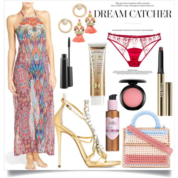Dream catcher by camry-brynn on Polyvore featuring Laundry by Shelli Segal, Fleur of England, Giuseppe Zanotti, 7II, Elizabeth Cole, Zoë Chicco, MAC Cosmetics, Trish McEvoy, Xen-Tan and Million Dollar Tan