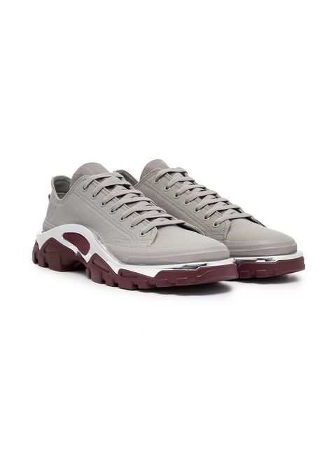 dea167e10e97 Adidas By Raf Simons Grey And Maroon Red Raf Simons Detroit Sneakers ...