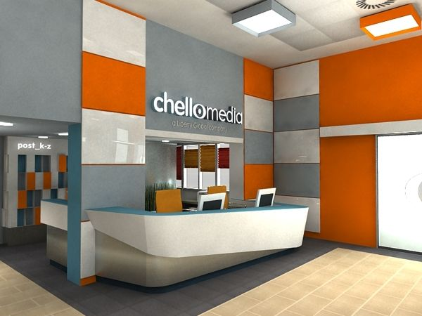 Chello office reception area design by stand out via for Bbdo office design 9