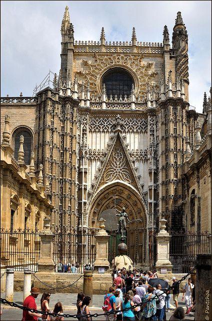 Sevilla : Catedral de Santa María de la Sede : Puerta de San Cristobal (Principe).