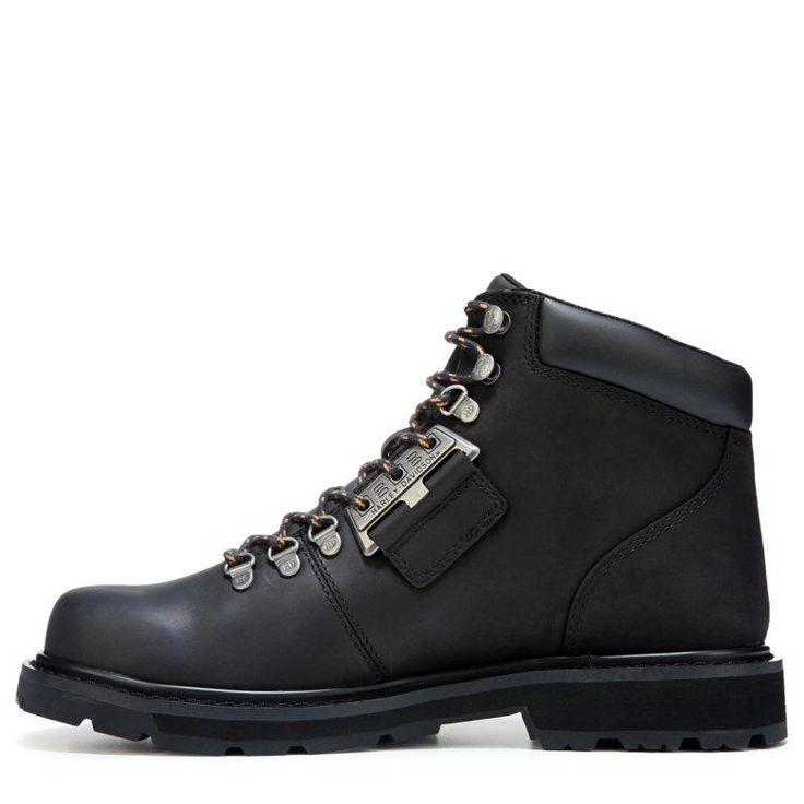 Harley Davidson Men's Templin Lace Up Boots (Black/Black Leather) - 10.0 M