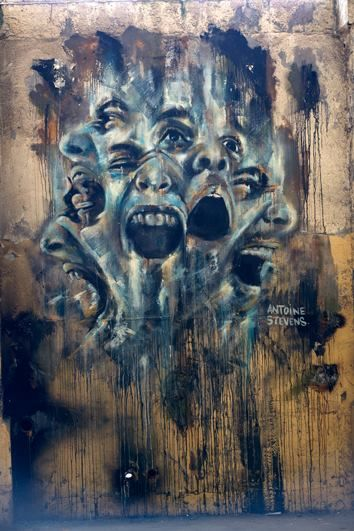 Artist Antoine Stevens....pent-up anger, the injustice in this apocalyptic world