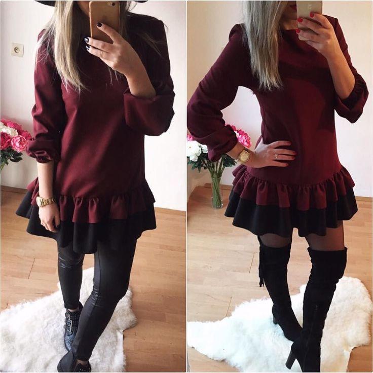 Tento dvojfarebný nadčasový model sa dá nosiť na 2 spôsoby či už ako šaty  alebo tunika  je na tebe ktorú variantu si zvolíš  dostupné veľkosti SM dodanie do 24hod V cene 3390  Material si zamiluješ www.tvojstyl.fashion