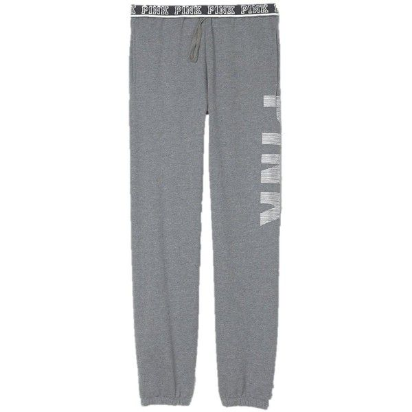 Victoria's Secret PINK Campus Sweat Pants at Amazon Women's Clothing... ($45) ❤ liked on Polyvore featuring activewear, activewear pants, victoria secret sweatpants, victoria's secret, victoria secret sportswear, victoria secret activewear and sweat pants